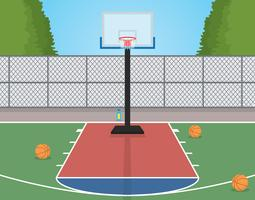 Terrain de basketball vecteur
