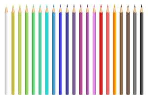 Crayons de couleur vector design illustraion isolé sur fond blanc