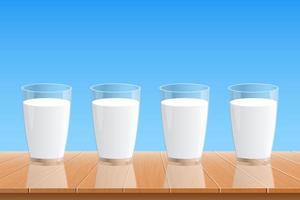 verre d & # 39; illustration de conception de vecteur de lait frais