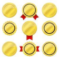 illustration de conception de vecteur insigne doré isolé sur fond blanc