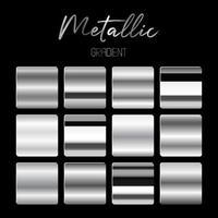 illustration de conception de vecteur de dégradés métalliques isolé sur fond noir