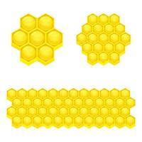 illustration de conception de vecteur en nid d'abeille isolé sur fond blanc