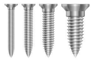 Vis boulon set vector illustration de conception isolé sur fond blanc