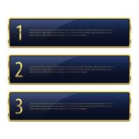 illustration de conception de vecteur de bannière dorée de luxe