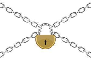 cadenas avec illustration de conception de vecteur de chaîne isolé sur fond blanc