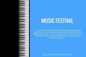 illustration de conception de vecteur de festival de musique affiche