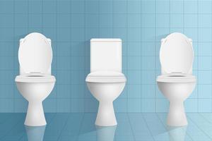 illustration de conception de vecteur de toilette moderne