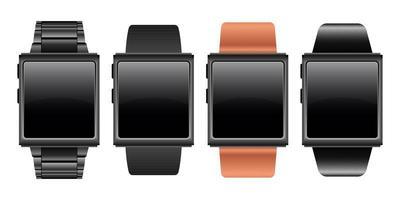 illustration de conception de vecteur de périphérique smartwatch isolé sur fond blanc
