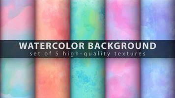 ensemble de fond de texture aquarelle colorée