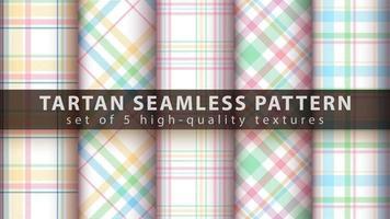 ensemble de fond sans couture tartan classique