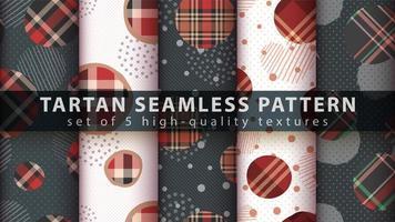 ensemble de formes géométriques avec fond transparent tartan