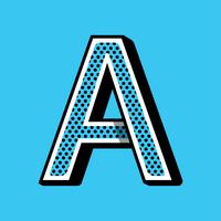 Typographie de la lettre A vecteur