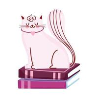 chat sur pile de livres, jour du livre