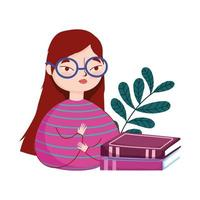 jeune femme, lunettes