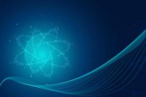 fond abstrait technologie hi-tech bleu