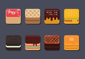 Alimentaire app icon set