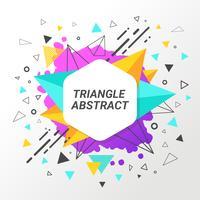 Arrière-plan de triangle abstrait vecteur