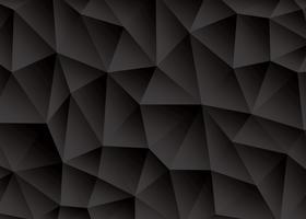 Vecteur de fond noir abstrait triangle