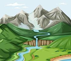 vue à vol d'oiseau avec scène de paysage de parc naturel vecteur
