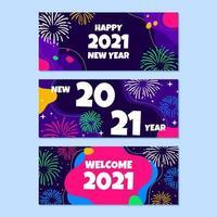 ensemble de bannière de fête du nouvel an vecteur