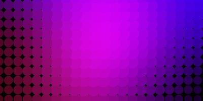 modèle vectoriel violet clair avec des cercles.