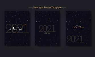 ensemble de modèles d'affiche de nouvel an