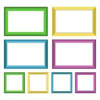 images de cadre photo vecteur