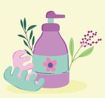 maquillage cosmétique produit mode beauté distributeur lotion pour le corps pédicure séparateurs vecteur