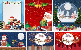 ensemble de carte postale de Noël vierge ou une affiche isolée