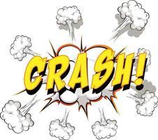 bulle de dialogue comique avec texte de crash vecteur