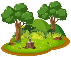 île de forêt nature isolée vecteur