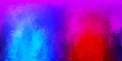 motif polygonal de vecteur bleu clair, rouge.