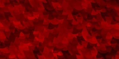 fond de vecteur rouge clair dans un style polygonal.