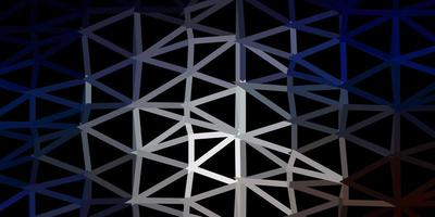 fond d'écran de polygone dégradé vecteur bleu foncé, jaune.