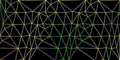motif polygonal de vecteur vert clair, jaune.