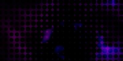 mise en page de vecteur violet foncé avec des cercles.