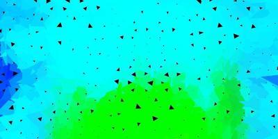 Disposition de triangle poly vecteur multicolore clair.
