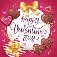 doux saint valentin vecteur
