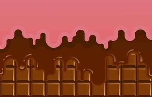 chocolat avec accent rose vecteur