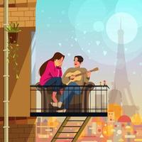 concept de couple romantique vecteur