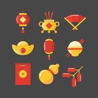 icônes de fête du nouvel an chinois vecteur
