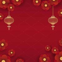 fond de nouvel an chinois vecteur