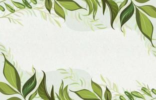 fond de feuilles florales simples vecteur