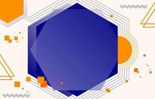 abstrait avec une couleur bleue et orange vecteur