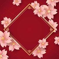 fond de fleur de nouvel an chinois vecteur