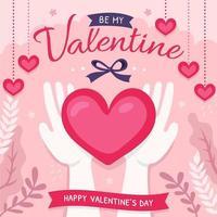 sois ma carte d'amour pour la Saint-Valentin vecteur