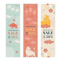 bannière de célébration de vente de nouvel an chinois vecteur