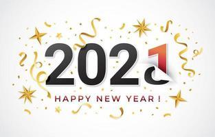 Célébration 2020 à 2021 vecteur