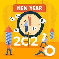 compte à rebours du nouvel an 2021 vecteur