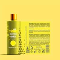 modèle de maquette de paquet de bouteille de shampoing cosmétique vecteur